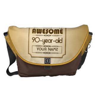 Gold 90th Birthday Celebration World Best Fabulous Messenger Bags