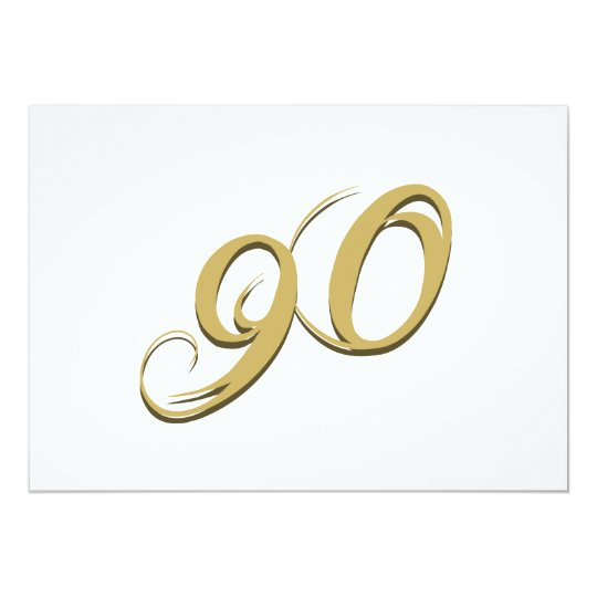 Gold 90th Birthday Gifts Card