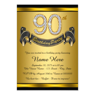 90th Birthday Invitations Amp Announcements Zazzle Co Uk