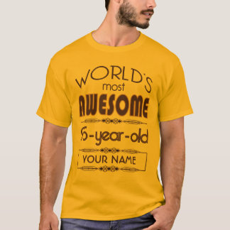 Gold 95th Birthday Celebration World Best Fabulous T-Shirt