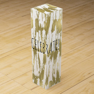 Gold Abstract Celebrate Wine Bottle Boxes