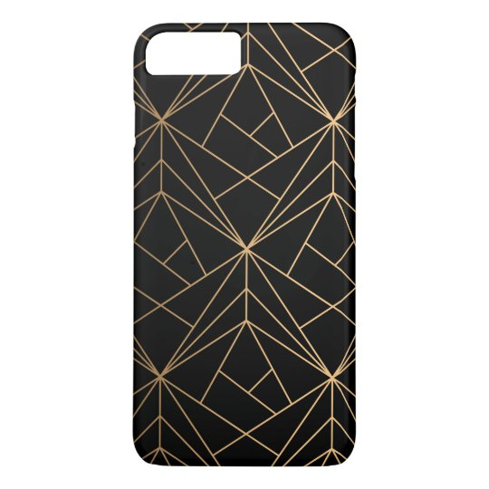 Gold Abstract Geometric Pattern   Phone Case
