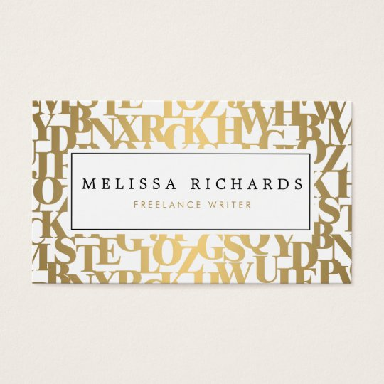 Gold Abstract Letterforms III for Authors, Writers Business