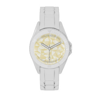 Gold Abstract Mosaic Pattern Wristwatches
