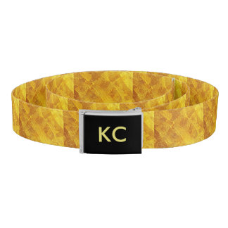 Gold Abstract Pattern Canvas Belt