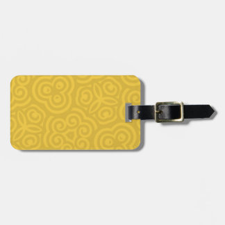 Gold Abstract Pattern Luggage Tag