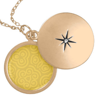 Gold Abstract Pattern Pendants