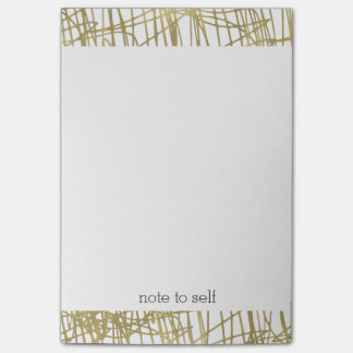 Gold Abstract Personalized Post-it Notes