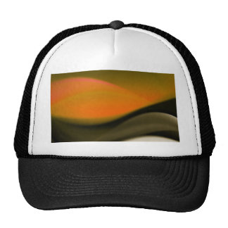 Gold Abstract Waves Art Hat