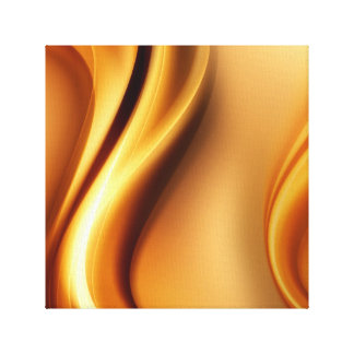 Gold Abstract Waves Canvas Print
