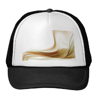 GOLD ABSTRACT WITH WHITE BACKGROUND TRUCKER HATS