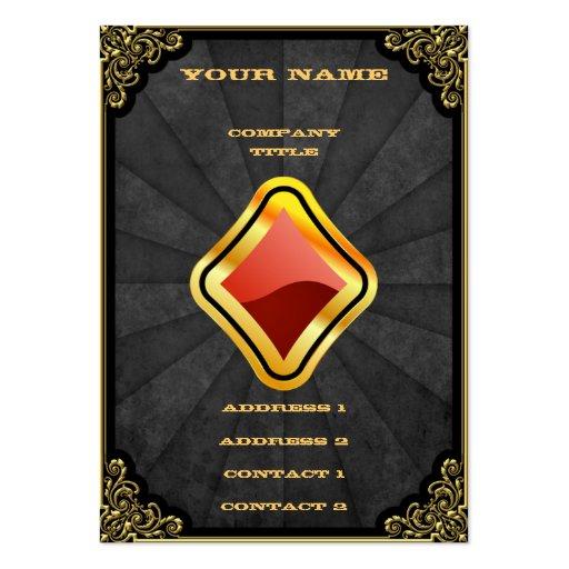 Gold Ace of Diamonds Business Card Templates