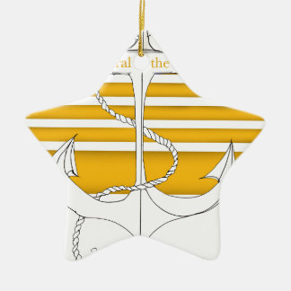 gold admiral of the fleet, tony fernandes ceramic star decoration
