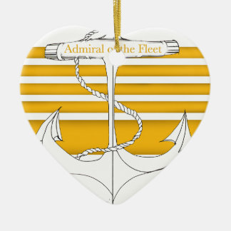 gold admiral of the fleet, tony fernandes christmas ornament
