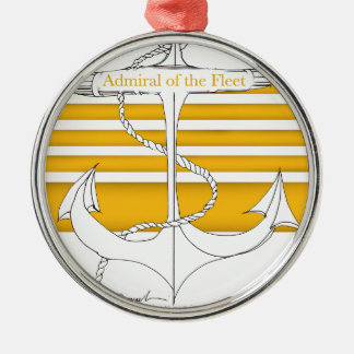 gold admiral of the fleet, tony fernandes Silver-Colored round decoration