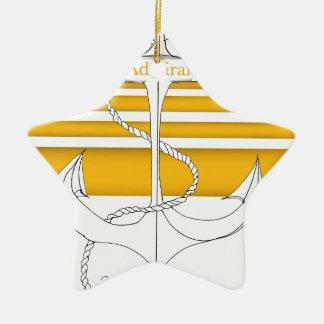 gold admiral, tony fernandes ceramic star decoration