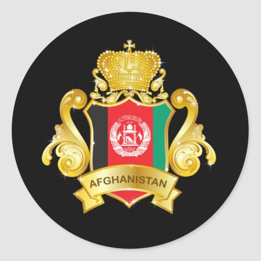 Gold Afghanistan Sticker