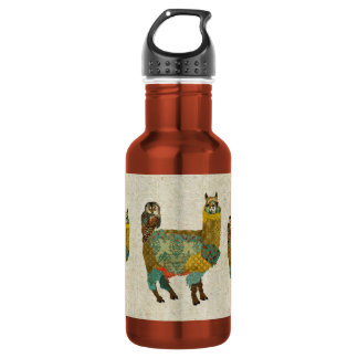 Gold Alpac & Teal Owl Liberty Bottle 532 Ml Water Bottle