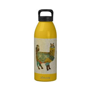 Gold Alpac Teal Owl Liberty Bottle Drinking Bottle