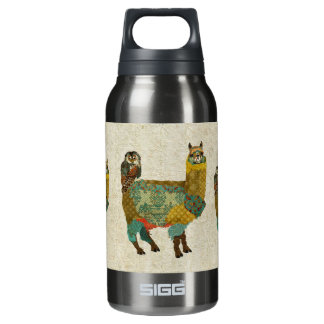 Gold Alpac & Teal Owl Liberty Bottle 10 Oz Insulated SIGG Thermos Water Bottle