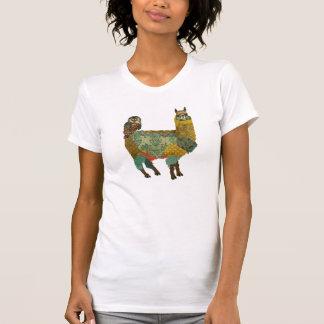 Gold Alpaca & Teal Owl Shirt