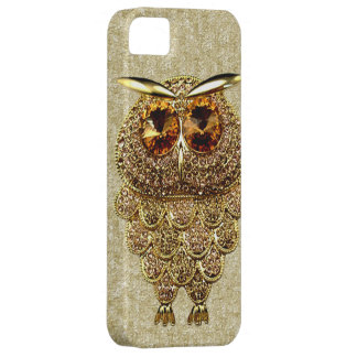 Gold & Amber Owl Jewel PRINTED IMAGE iPhone 5 Covers
