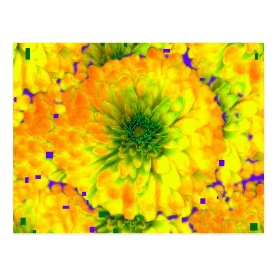 Gold an Green Zinna Design By Sharles Fine