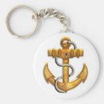 Gold Anchor Key Chain