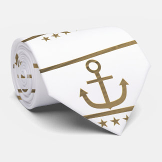 gold anchor on  white background tie