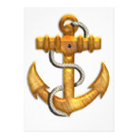 Gold Anchor Personalized Invites