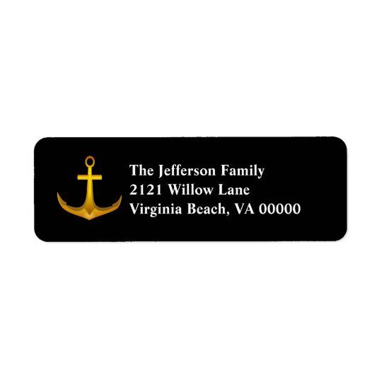 Gold Anchor Return Address Labels