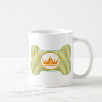 Gold and Aqua with Crown.png Basic White Mug