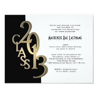 Gold and Black 2013 Graduation Invitation