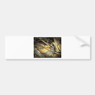 Gold And Black Abstract Bumper Sticker