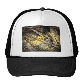 Gold And Black Abstract Trucker Hats