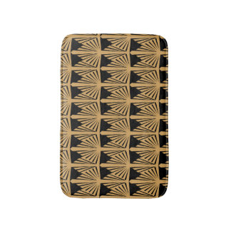 Gold and Black Art Deco Pattern Wedding Bath Mat