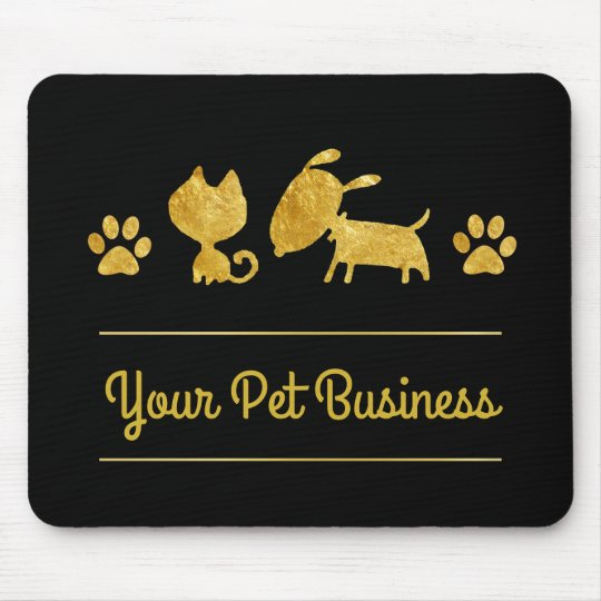 gold and black cat dog pet logo mouse