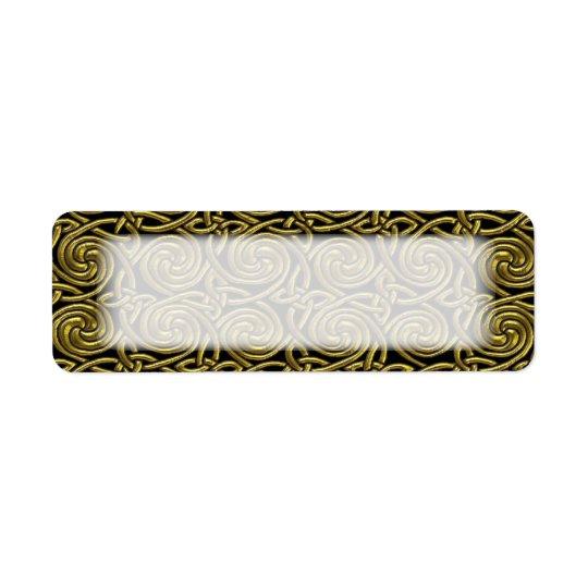 Gold And Black Celtic Spiral Knots Pattern