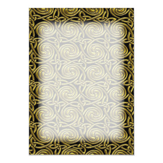 Gold And Black Celtic Spiral Knots Pattern 13 Cm X 18 Cm Invitation Card