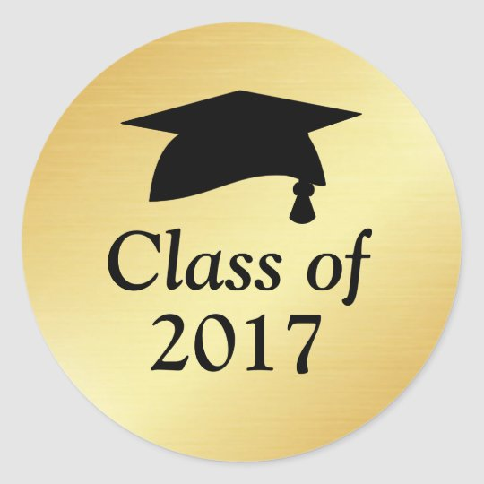 Gold and Black Class of 2018 Graduation Favour