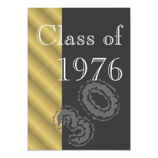 Gold and black Class reunion party 11 Cm X 16 Cm Invitation Card