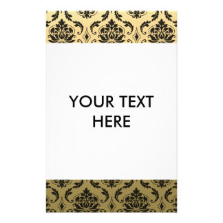 Gold and Black Classic Damask 14 Cm X 21.5 Cm Flyer