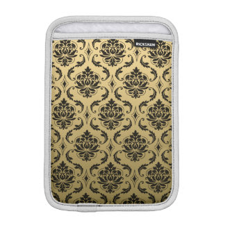 Gold and Black Classic Damask Sleeve For iPad Mini