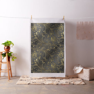Gold and Black Design Fabric Material