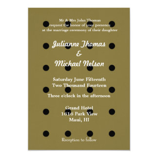 Gold and Black Dots Personalized Announcement