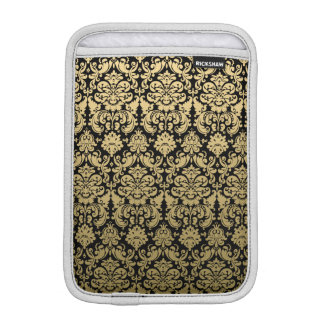 Gold and Black Elegant Damask Pattern Sleeve For iPad Mini