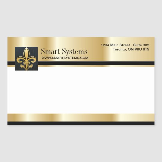 Gold and Black Envelope Stickers