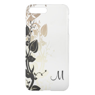 Gold and Black Floral with Monogram iPhone 8 Plus/7 Plus Case