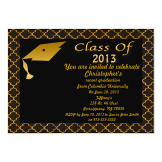 Gold And Black Graduation Party Invitation
