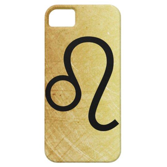 Gold and Black Leo Horoscope Sign Lion Symbol